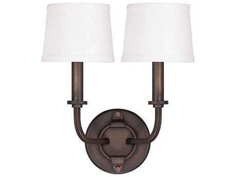 Capital Lighting Chastain Tobacco Two-Light Wall Sconce