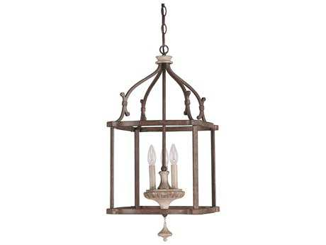 Capital Lighting Chateau French Oak Three-Light 14'' Wide Pendant Light