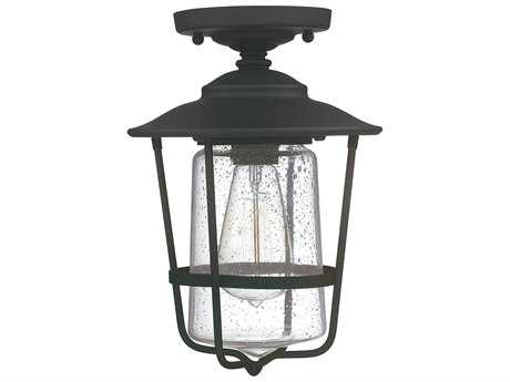 Capital Lighting Creekside Black  8'' Wide Outdoor Ceiling Light