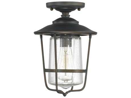 Capital Lighting Creekside Old Bronze 8'' Wide Outdoor Ceiling Light