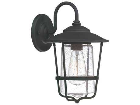 Capital Lighting Creekside Black  8'' Wide Outdoor Wall Light