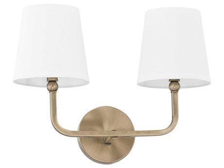 Capital Lighting Dawson Aged Brass Two-Light Vanity Light C2119321AD674