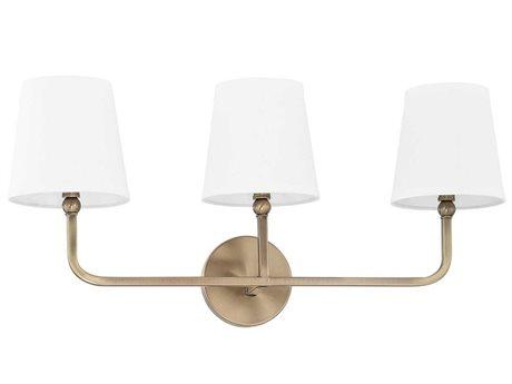 Capital Lighting Dawson Aged Brass Three-Light Vanity Light C2119331AD674