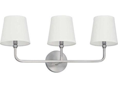 Capital Lighting Dawson Brushed Nickel Three-Lights 26'' Wide Vanity Light C2119331BN674