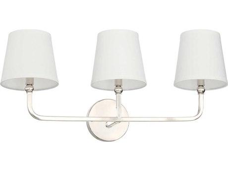 Capital Lighting Dawson Polished Nickel Three-Lights 26'' Wide Vanity Light C2119331PN674