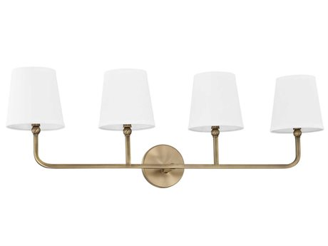 Capital Lighting Dawson Aged Brass Four-Light Vanity Light C2119341AD674