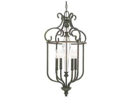 Capital Lighting Everleigh French Greige Four-Light 16'' Wide Pendant Light C2517741FG