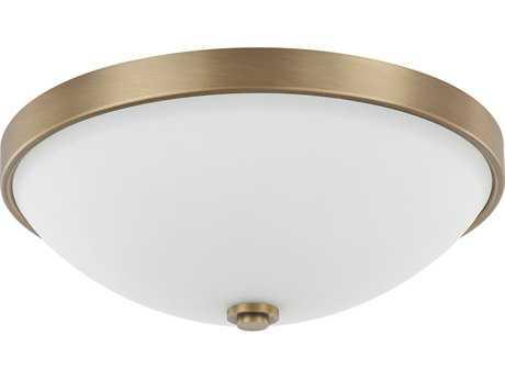Capital Lighting Aged Brass Two-Light 13'' Wide Flush Mount Light C22323ADSW