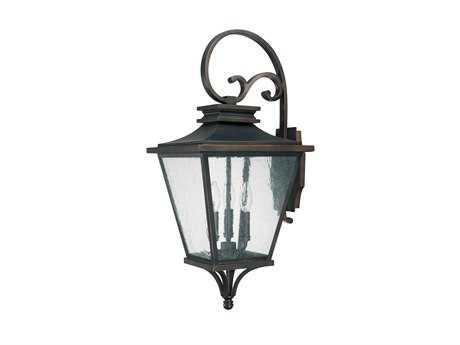 Capital Lighting Gentry Old Bronze Three-Light Outdoor Wall Lantern C29463OB