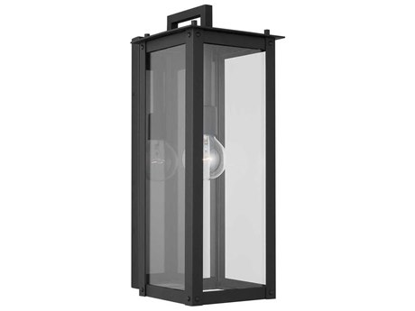 Capital Lighting Hunt Black Glass Outdoor Wall Light