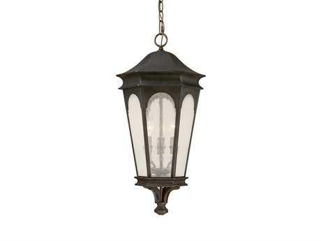 Capital Lighting Inman Park Old Bronze Three-Light Outdoor Hanging Lantern C29386OB