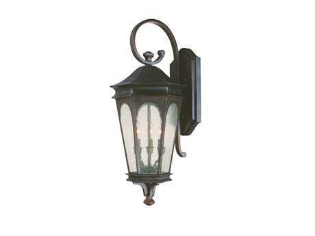 Capital Lighting Inman Park Old Bronze Three-Light Outdoor Lantern C29383OB
