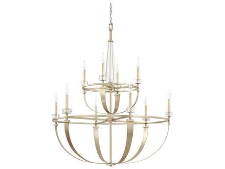 Capital Lighting Karina Winter Gold Ten-Lights 44'' Wide Chandelier
