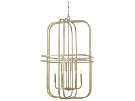 Capital Lighting Karina Winter Gold Eight-Lights 24'' Wide Chandelier