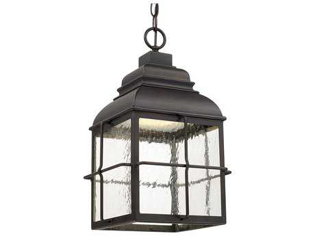 Capital Lighting Lanier Old Bronze with Seeded Glass LED Outdoor Hanging Lantern Light C2917832OBLD
