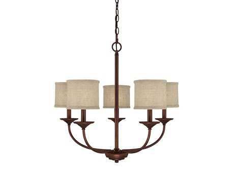 Capital Lighting Loft Burnished Bronze Five-Light 27'' Wide Chandelier