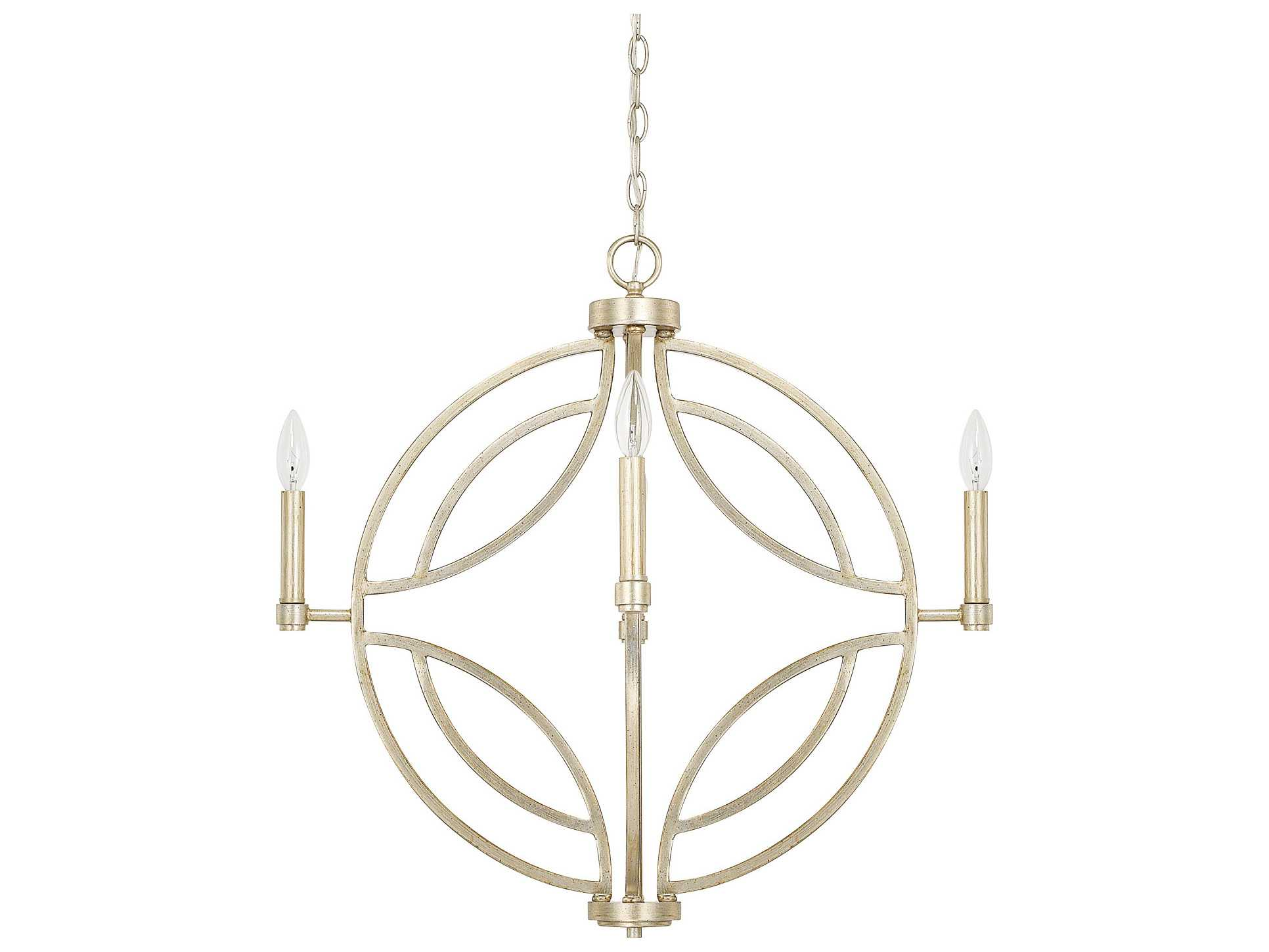 Progress Lighting Riverside Collection 4 Light Heirloom: Capital Lighting Mercer Winter Gold Four-Light 25'' Wide