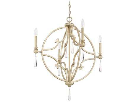 Capital Lighting Mercer Winter Gold Four-Light 26'' Wide Chandelier C2321243WGCR
