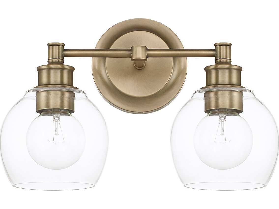 Capital Lighting Mid Century Aged Brass Two Light Vanity