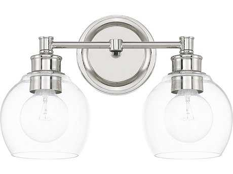 Capital Lighting Mid Century Polished Nickel Two-Light Vanity Light C2121121PN426