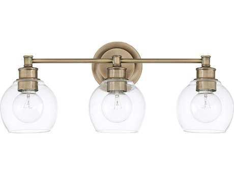 Capital Lighting Mid Century Aged Brass Three-Light Vanity Light