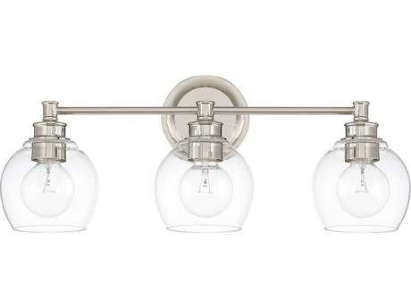 Capital Lighting Mid Century Polished Nickel Three-Light Vanity Light C2121131PN426