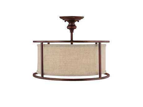 Capital Lighting Midtown Burnished Bronze Three-Light Semi-Flush Mount Light C23914BB458