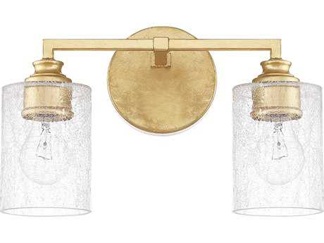Capital Lighting Milan Capital Gold Two-Light Vanity Light C2120521CG422