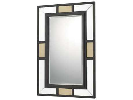 Capital Lighting Aged Brass & Old Bronze 24''W x 36''H Rectangular Decorative Wall Mirror C2724301MM