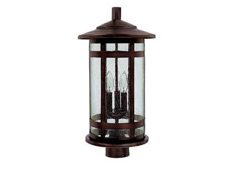 Capital Lighting Mission Hills Burnished Bronze Three-Light Outdoor Post Light C29955BB