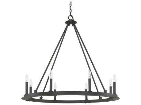 Capital Lighting Pearson Black Iron Eight-Light 36'' Wide Chandelier C24918BI000