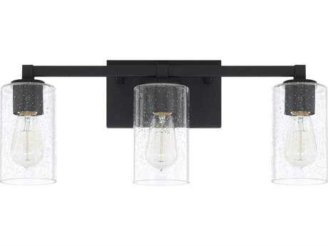 Capital Lighting Ravenwood Black Iron Three-Light Vanity Light C2119831BI435