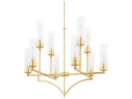 Capital Lighting Regan Capital Gold Ten-Light 33'' Wide Chandelier