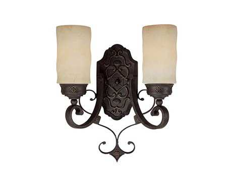 Capital Lighting River Crest Rustic Iron Two-Light Wall Sconce C21907RI125