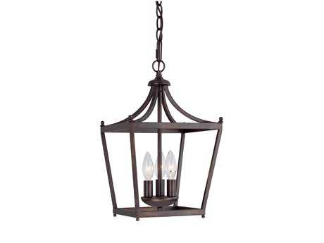 Capital Lighting Stanton Burnished Bronze Three-Light Pendant Light C24036BB
