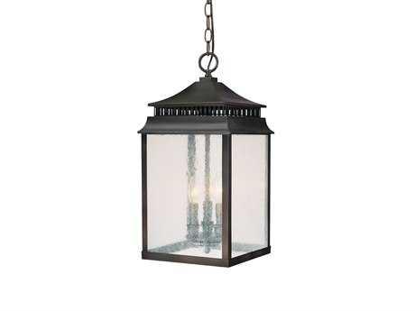 Capital Lighting Sutter Creek Old Bronze Three-Light Hanging Lantern C29116OB