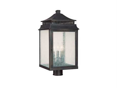 Capital Lighting Sutter Creek Medium Bronze Three-Light Post Lantern C29117OB