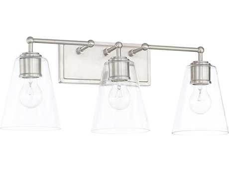 Capital Lighting Brushed Nickel Three-Light Vanity Light C2121731BN431