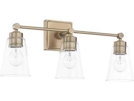 Capital Lighting Aged Brass Three-Light Vanity Light C2121831AD432