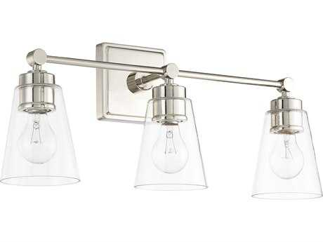 Capital Lighting Polished Nickel Three-Light Vanity Light C2121831PN432