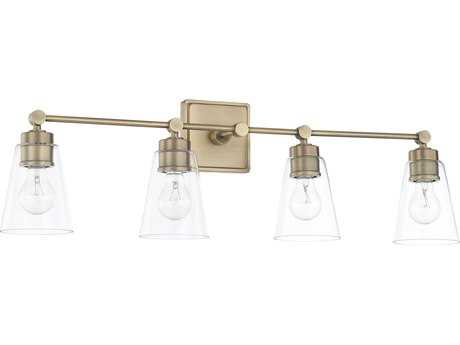 Capital Lighting Aged Brass Four-Light Vanity Light