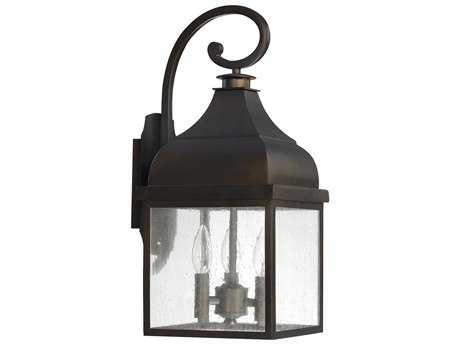 Capital Lighting Westridge Old Bronze Three-Light 9'' Wide Outdoor Wall Light C29642OB