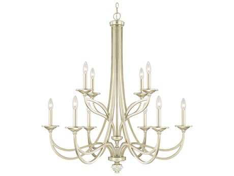 Capital Lighting Windsor Soft Gold Ten-Light 36'' Wide Chandelier