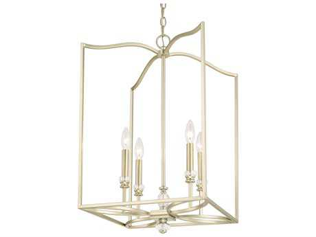 Capital Lighting Windsor Soft Gold Four-Light 16'' Wide Pendant Light