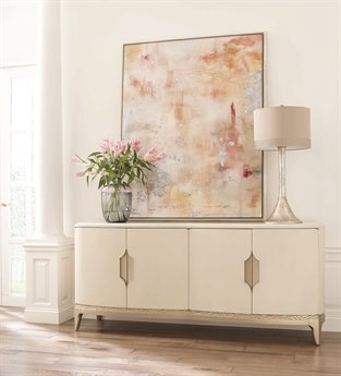 Caracole Compositions Adela Washed White/ Blush Taupe 78''W x 22''D Rectangular Sideboard CASC012016211