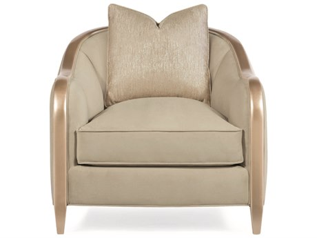 Caracole Compositions Adela Oyster / Blush Taupe Barrel Accent Chair CASC010016033A
