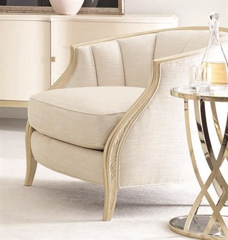 Caracole Compositions Adela Creamy Bouche / Blush Tape Accent Chair CASC010016035A