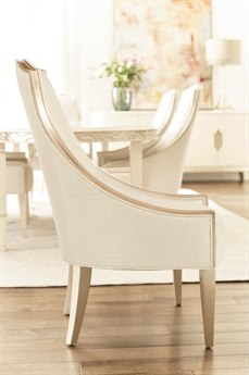 Caracole Compositions Adela Creamy Bouche / Blush Tape Dining Side Chair
