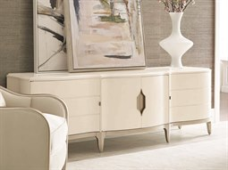 Compositions Adela Washed White/ Blush Taupe 91''W x 24''D Rectangular Media Cabinet