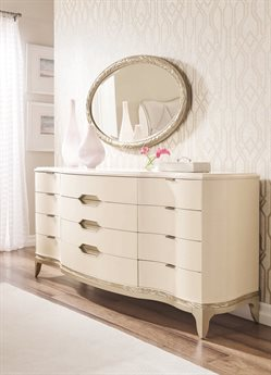 Caracole Compositions Adela  Triple Dresser with Wall Mirror Set CASC013016031SET